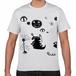 さまざまなモンスターTシャツ(モンスターたち) 白