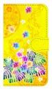 【鏡付き Sサイズ】Passion Yellow Paradise パッション・イエロー・パラダイス 手帳型スマホケース