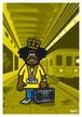 《山本周司 イラストポストカード》CY-14/ ラジカセの男