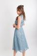 7sheets flare lace skirt BLU