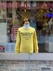 WOMENS:NEEDLEWORKS STANDARD【ニードルワークススタンダード】Smile T-shirt(マスタード/S,M,Lサイズ)スマイルTシャツ