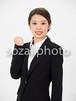 人物写真素材(rin-4187465/女性/ガッツポーズ)