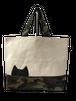 黒猫×迷彩トートバッグ