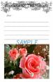薔薇のメッセージカード*No,28「華やかに優しく」