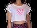 【X Drums】CUORE Tシャツ【ホワイト×ピンク】【新作】イタリアンウェア《M&W》
