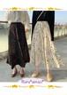 大人らしい落着き感を◆シックなカラーの花柄マキシスカート