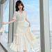 【dress】優しい雰囲気エレガントVネック着瘦せデニムワンピース2色 N-0116