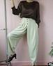 beige high-waist pants