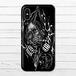 #016-001 iPhoneケース スマホケース クール ロック おしゃれ スカル Xperia iPhone5/6/6s/7/8/X ARROWS AQUOS Galaxy タイトル:ドクロ神父 作:nero