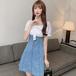 【dress】人気アイテム ! 切り替えパフスリーブリボンデートワンピース M-0191