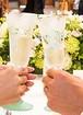 【ブドウ】信頼のブドウ シャンパングラス/両親プレゼント・結婚式乾杯記念日グラス・ウェディングギフト・結婚祝い