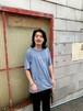 刺繍Tシャツ(ブルー)
