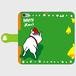 ハッピークリスマス うしろ向きわんこクリスマスVer 手帳型 手帳型スマホケース iPhone6/6s
