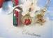 ポインセチアが咲く雪降るクリスマスのネックレス