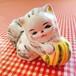 陶製 猫の置物
