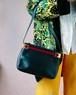 old GUCCI navy sherry line bag
