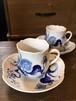 Meissen ブルーオーキッド コーヒーC&S