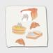 パンとブリショ ハンドタオル 白色
