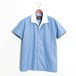 Open collar Cleric Shirt -Blue
