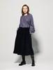 tweed gathered skirt