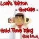 ルイ・ヴィトン:バーグ・ギャンブル(指輪)/M66825型/#M=実測9.5号/LOUISVUITTON/gamblingRing/BagueGamble