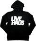 "LIVE HAUS  ""2020 Winter"" Logo Hoodie   BLACK x WHITE"