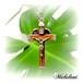オルゴナイトハート型チャーム《ピンクトルマリン》&クロス十字架ペンダント