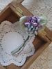 アンティークスタイルの手染め布花コサージュ  すみれグラデーション3 n-4