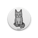 缶バッジ・静かに座る猫