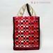 チェリーレッドのサテンリボン華やかバッグ【A4が入ります】/着物に合うバッグ(送料無料)