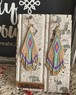 <14KGF>Bead stitch fringeピアス ✳︎  african violet