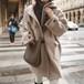 【アウター】秋冬ゆったりコットン長袖切り替えシンプルカジュアル韓国系フード付きシングルブレストコート24155851