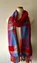 手織りストール シルク Si-006