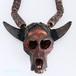 ナガ族の角付きスカルヘッドのネックレス 0101-MG94