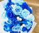F0504) サムシングブルーのブーケ/青いバラの花束(プリザーブドフラワー)