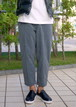 Uncle Pleated Wide Pants CHARCOAL
