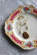 J&G MEAKIN ミーキン 1930年代 ケーキプレート イギリス ピンクローズ