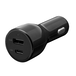 スマホやタブレットを超速充電! Power Delivery対応  最大5.4A出力 USB Type-C+Type-A 車載充電器