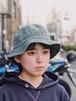 トロトロ石器刺繍入り帽子(Bucket Hat)ウォッシュドダークグリーン