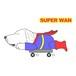 Superwqnステッカー【イングリッシュゴールデンレトリバー】 犬 ステッカー シール