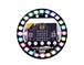 LED halo 24個のリング状フルカラーLEDとマイクがついたmicro:bit拡張ボード
