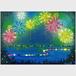 「蛍と花火」タペストリー