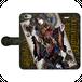 #020-001 iPhoneXS/X 綺麗系・ファンタジー系《Queen Of Black Heart》 手帳型iPhoneケース  作:由乃夢朗