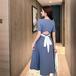 【dress】人気を独占中ファッションチュニック着瘦せデートワンピース2色