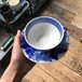 old arabia blue flower CUP&SAUCER