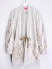White gold wool haori coat
