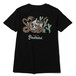 RUDE GALLERY BLACK REBEL  SNAKE & SKULL TEE <ART WORK by H.U.>