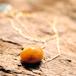 Jurate 琥珀色の自然石の2連ブレスレット