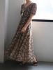 90's flower maxi dress