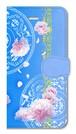 【iPhone5/5s/SE】 Peony Dream 芍薬の夢 スカイブルー 手帳型スマホケース